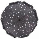 Umbrela pentru carucior 82 cm UV 50+ Stelute Grey Fillikid