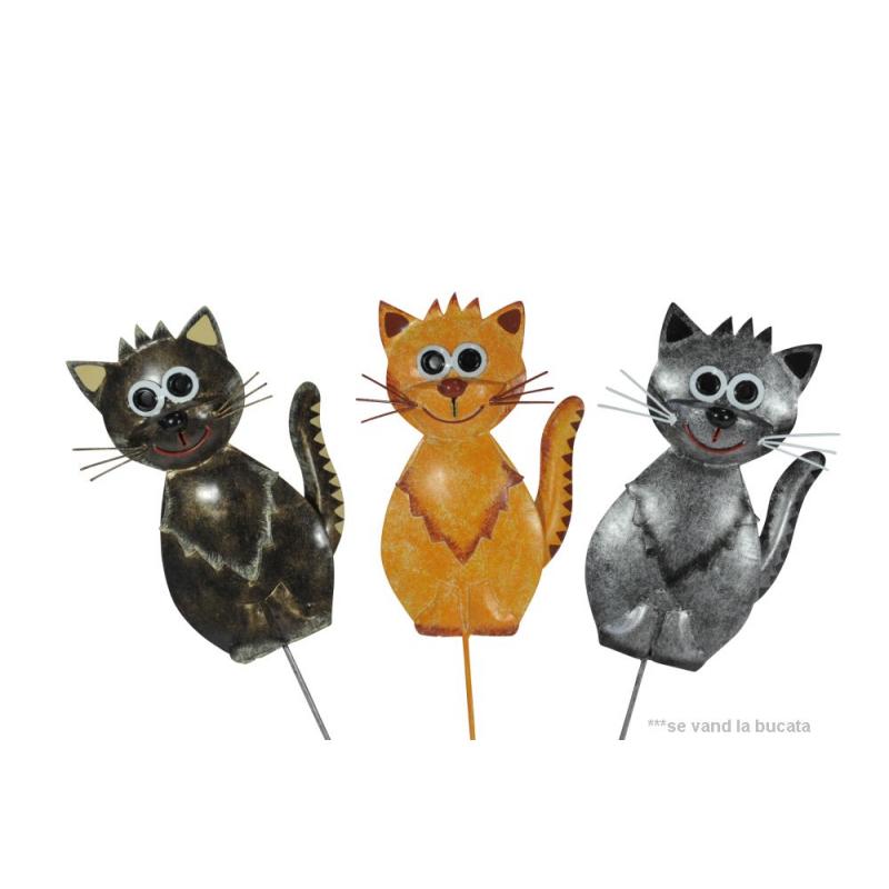 Decoratiune ghiveci Pisica cu tija