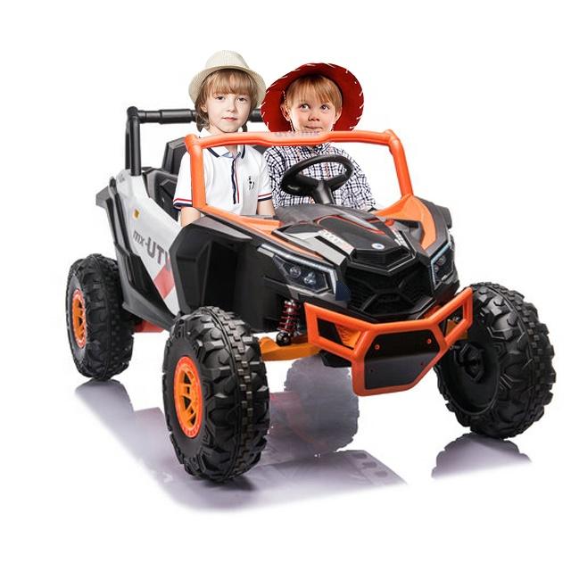 Masinuta electrica 12V cu 4 motoare Nichiduta 4x4 UTV MX OrangeWhite