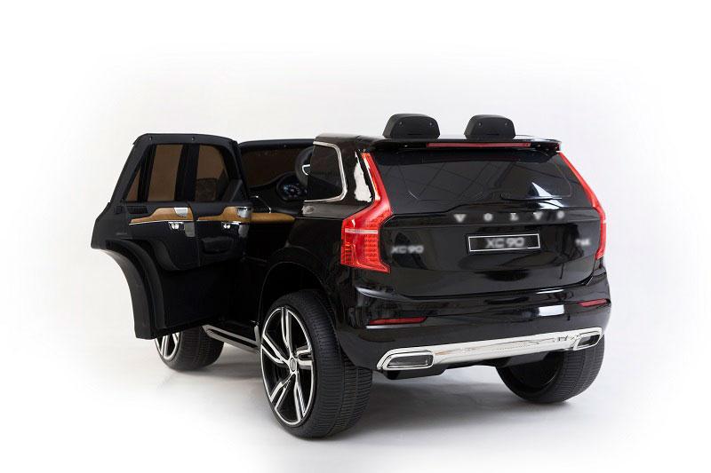 Masinuta electrica Volvo XC90 cu roti EVA si scaun piele Black - 1
