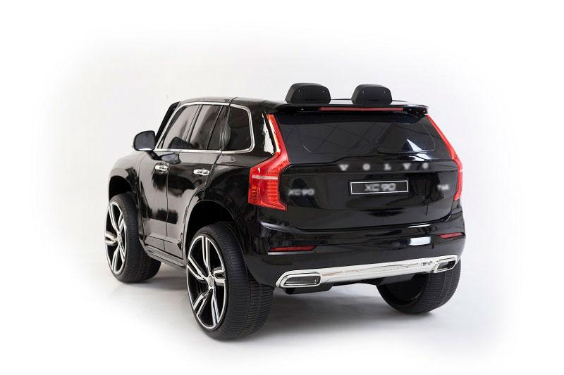 Masinuta electrica Volvo XC90 cu roti EVA si scaun piele Black - 2