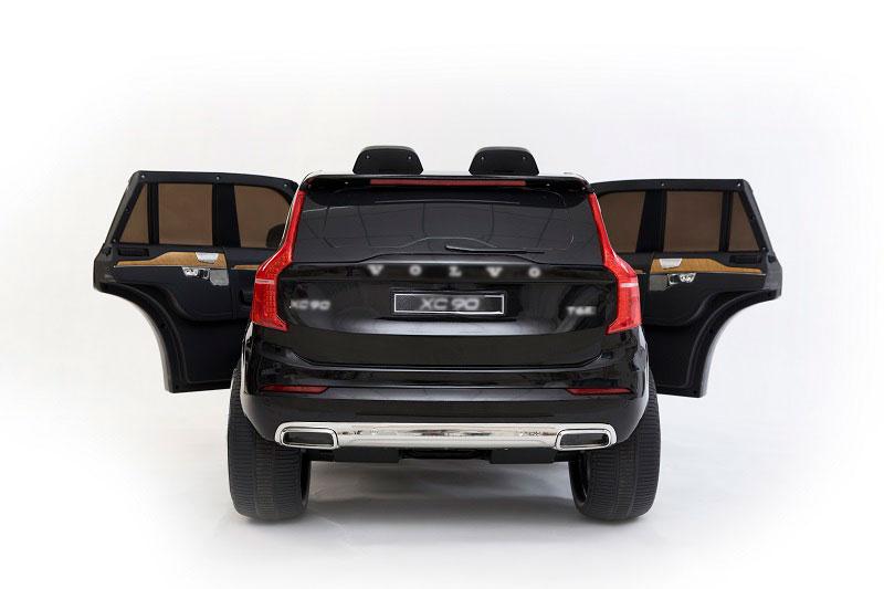 Masinuta electrica Volvo XC90 cu roti EVA si scaun piele Black - 5