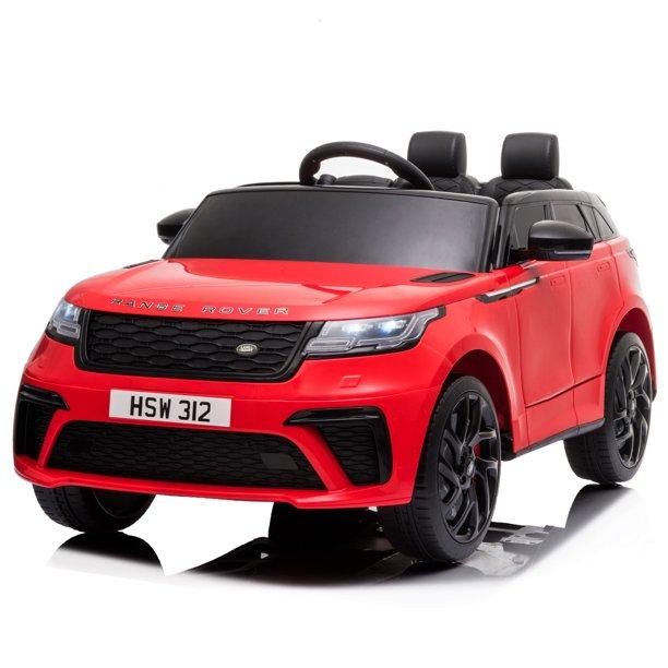 Masinuta electrica cu scaun de piele Range Rover Velar Red