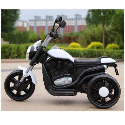 Motocicleta electrica KikkaBoo Chopper White