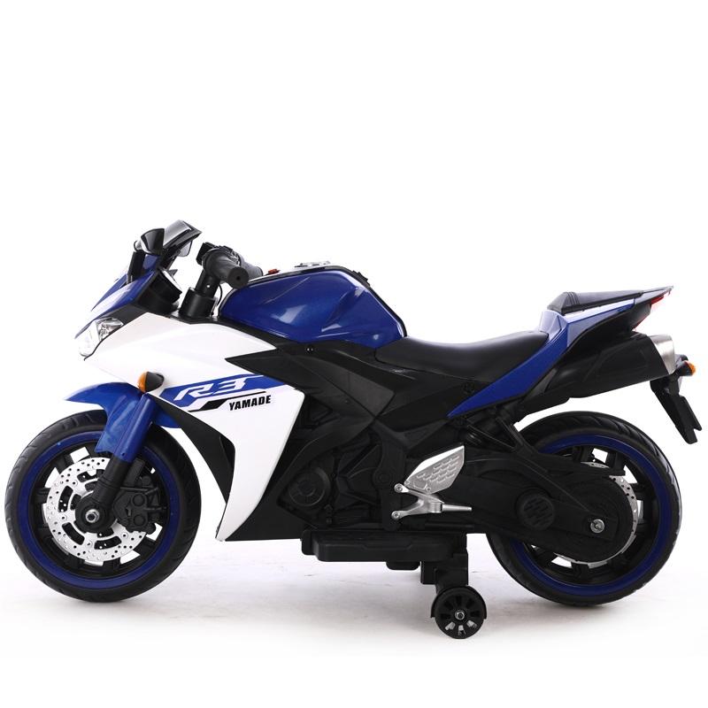 Motocicleta electrica cu scaun din piele Nichiduta Yamade Blue - 1
