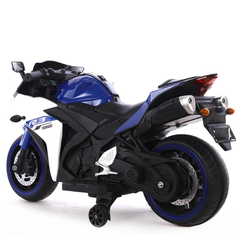 Motocicleta electrica cu scaun din piele Nichiduta Yamade Blue - 2