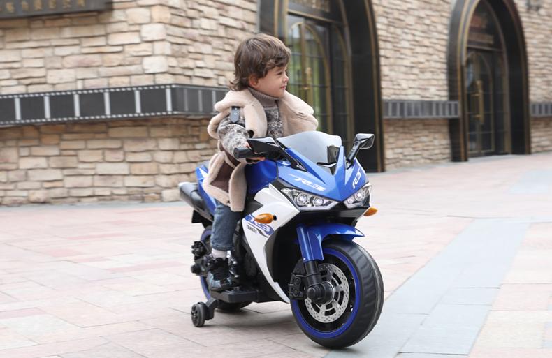 Motocicleta electrica cu scaun din piele Nichiduta Yamade Blue - 3