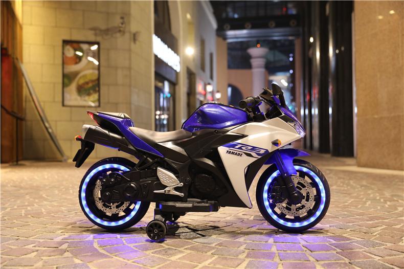 Motocicleta electrica cu scaun din piele Nichiduta Yamade Blue - 4