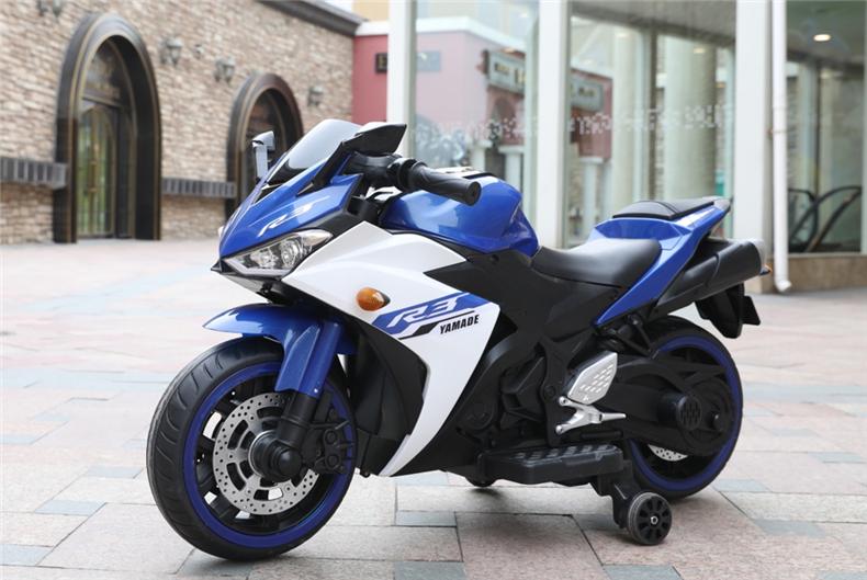 Motocicleta electrica cu scaun din piele Nichiduta Yamade Blue - 5