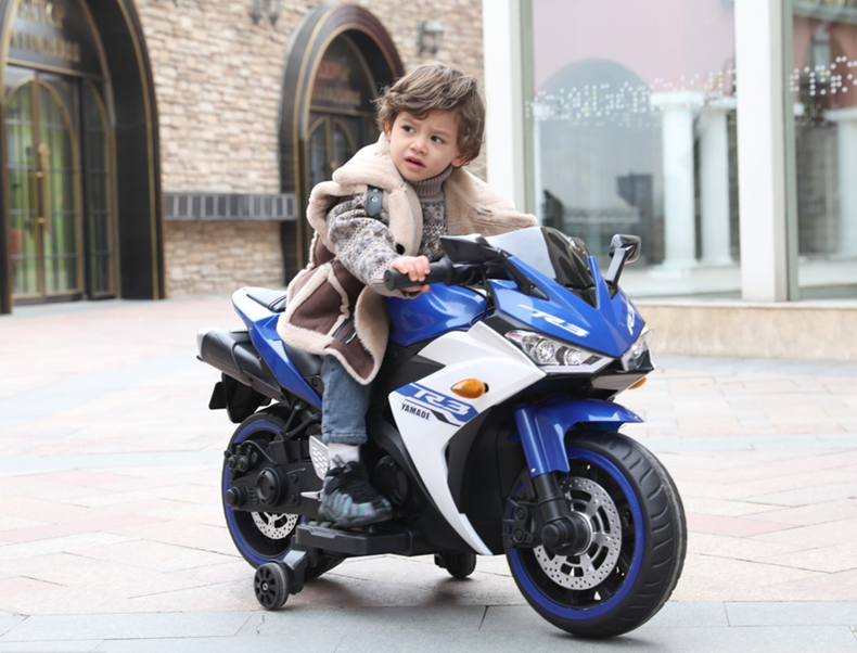 Motocicleta electrica cu scaun din piele Nichiduta Yamade Blue - 6