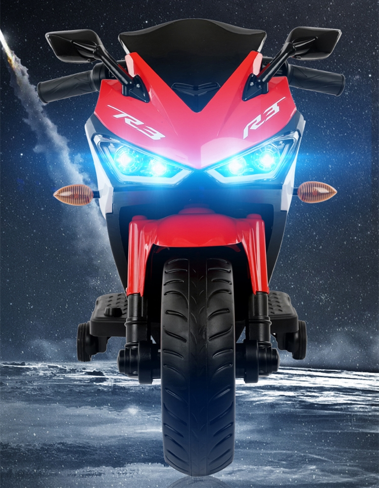 Motocicleta electrica cu scaun din piele Nichiduta Yamade Red - 1