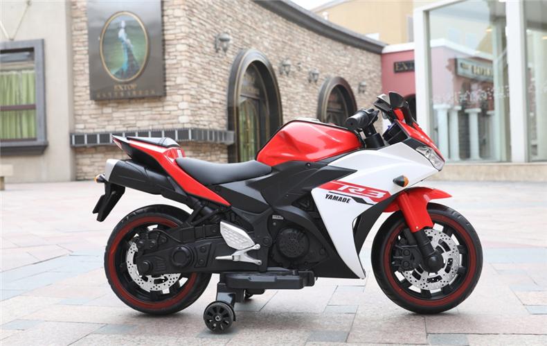 Motocicleta electrica cu scaun din piele Nichiduta Yamade Red - 2