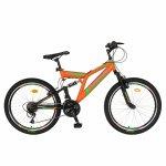 Bicicleta MTB-FS Saiguan Revoshift 18 viteze 26 inch Rich Baby CSR26/49A portocaliu cu negru