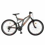 Bicicleta MTB-FS Saiguan Revoshift 26 inch Rich CSR26/49A gri cu portocaliu