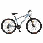 Bicicleta MTB-HT Montana 24 inch Carpat CSC24/99A bleu cu design gri