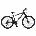 Bicicleta MTB-HT Montana 24 inch Carpat CSC24/99A negru cu design gri
