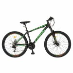 Bicicleta MTB-HT Montana 26 inch Carpat CSC26/99A negru cu design verde