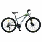 Bicicleta MTB-HT Velors Challange CSV26/10A 26 inch gri cu design alb/verde