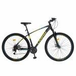 Bicicleta MTB-HT schimbator Shimano Tourney cadru aluminiu 27.5 inchCarpat CSC27/57C negru cu galben/albastru
