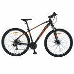 Bicicleta MTB-HT schimbator Shimano Tourney cadru aluminiu 27.5 inchCarpat CSC27/57C negru cu portocaliu