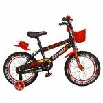 Bicicleta baieti 4-6 Ani 16 inch Rich Baby CSR16/WTB negru cu rosu