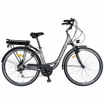 Bicicleta electrica City E-Bike 28 inch motor 250W Carpat CSC10/10E gri/alb