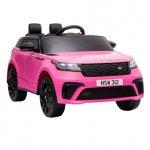 Masinuta electrica cu scaun de piele Range Rover Velar Pink