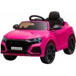 Masinuta electrica cu scaun de piele si roti cauciuc Audi RS Q8 Pink