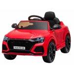 Masinuta electrica cu scaun de piele si roti cauciuc Audi RS Q8 Red
