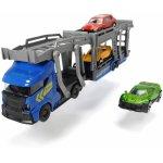 Set trailer 28 cm cu 3 masinute metalice Albastru