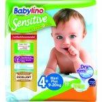 Scutece Babylino Sensitive N4+ 9-20kg/19 buc