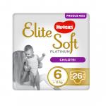 Scutece Elite Soft Pants Platinum Nr 6 Mega  26 buc 15+ Kg Huggies