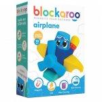 Set cuburi din spuma cu magnet Blockaroo Avion 10 piese