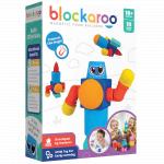 Set cuburi din spuma cu magnet Blockaroo Robot 10 piese