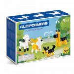 Set de construit Clicformers Catei prietenosi 123 piese