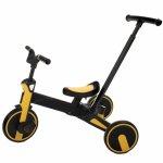 Tricicleta Uonibaby 4 in 1 pliabila si cu maner de impingere Yellow