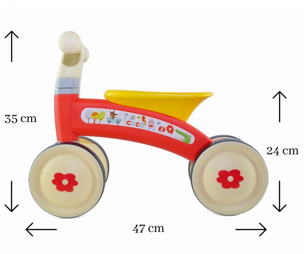 Bicicleta fara pedale Ride-On Coco Red