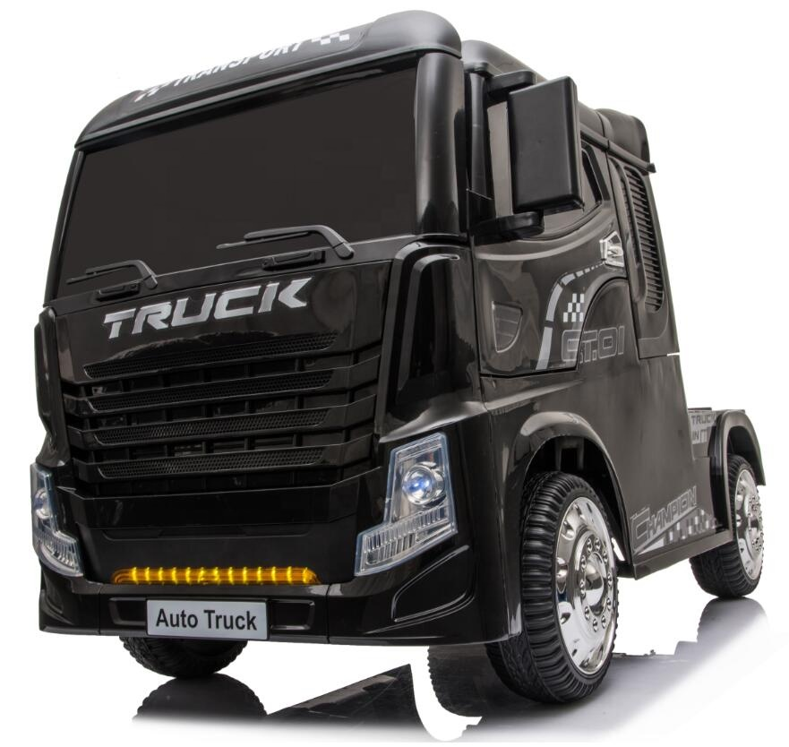 Camion electric 4x4 cu scaun de piele Truck Black