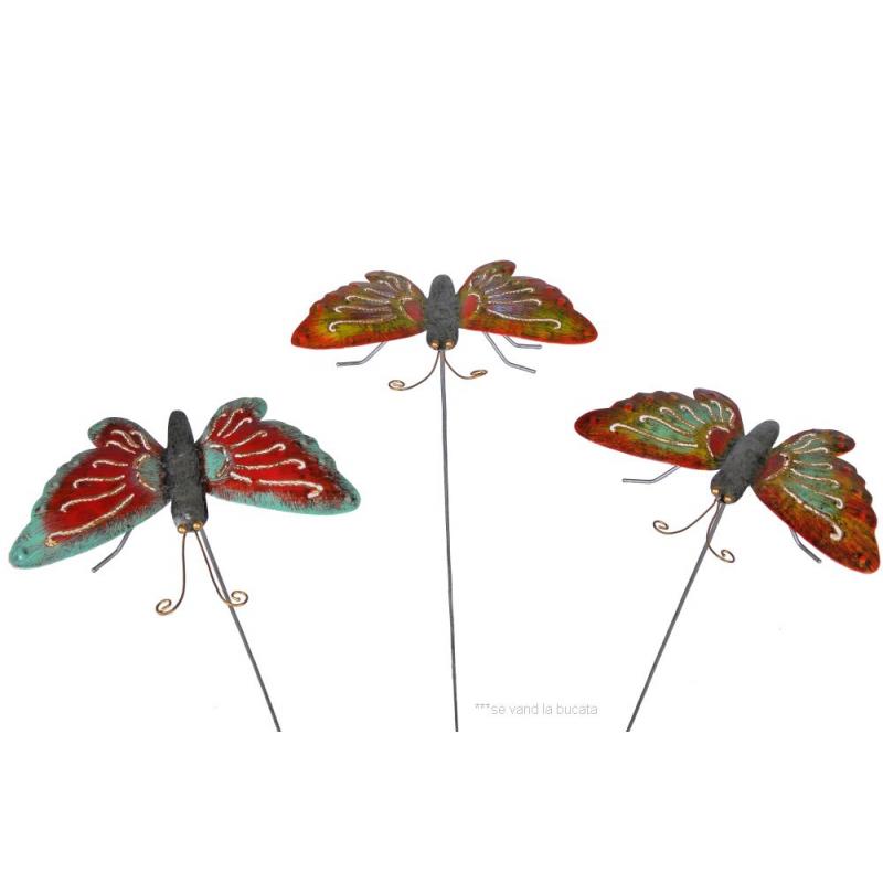 Decoratiune gradina ghiveci fluture