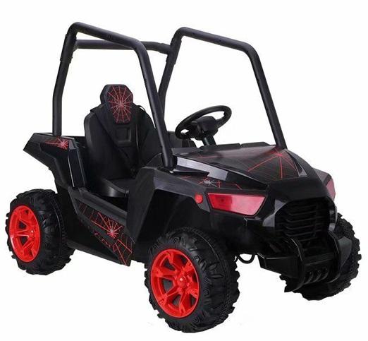 Masinuta electrica 4x4 cu scaun de piele UTV Spider Black
