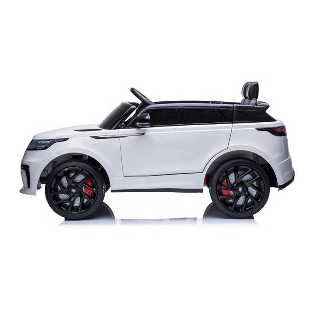 Masinuta electrica cu scaun de piele Range Rover Velar White