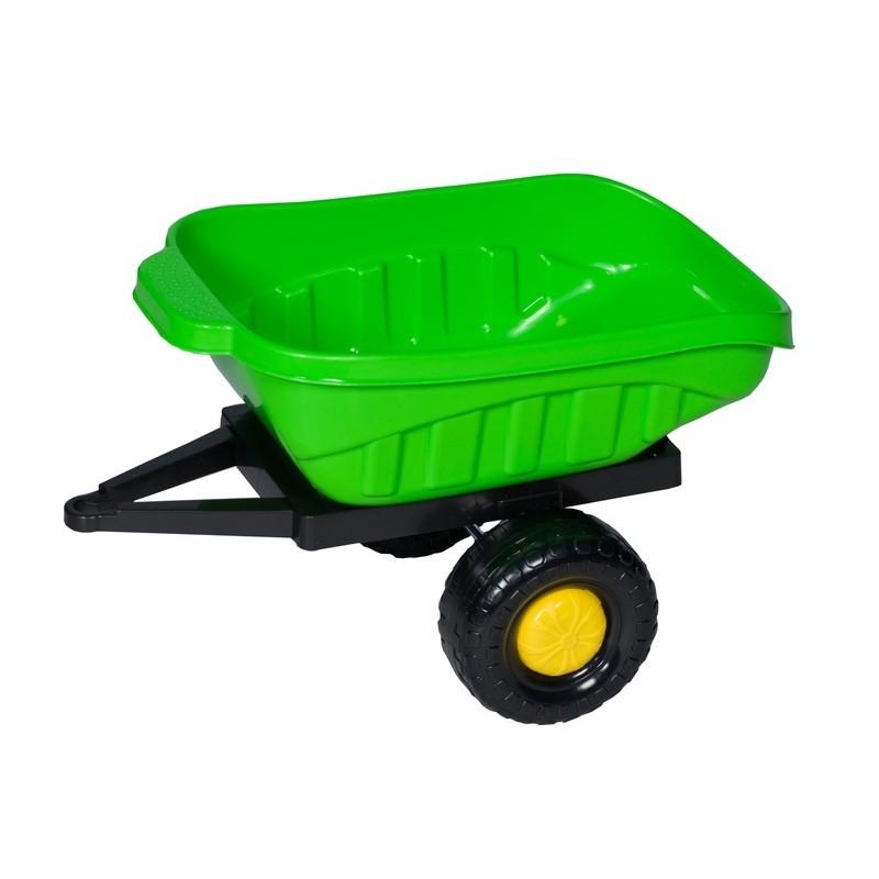 Remorca pentru tractor cu pedale copii 60 x 50 x 38 cm verde