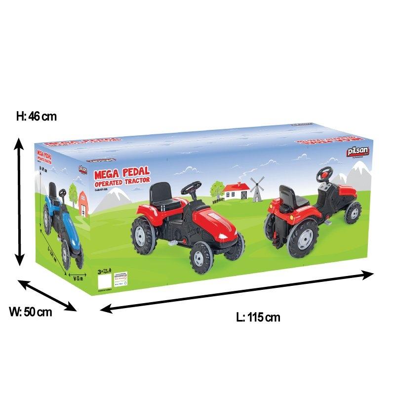 Tractor cu pedale Pilsan Mega 07-321 red - 1