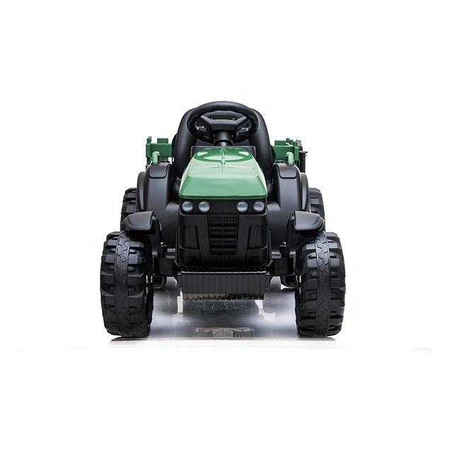 Tractor electric 12V cu telecomanda,scaun din piele si remorca Nichiduta Power Green