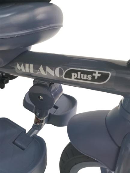 Tricicleta pliabila Bebe Royal Milano Plus Rosu