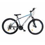 Bicicleta MTB-HT 24 inch Velors Vulcano CSV24/09A gri cu albastru/alb