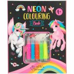 Carte de colorat Neon cu 5 carioci incluse Ylvi and The Minimoomis Depesche PT10331