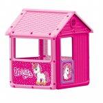 Casuta de joaca pentru copii Dolu unicorn roz 125x100x104 cm