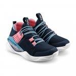 Pantofi sport fete Bibi Line Flow naval/cherry 27 EU
