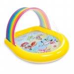 Piscina gonflabila copii Intex Rainbow multicolor 147 x 130 x 86 cm